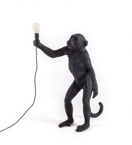 MONKEY LAMP-STANDING BLACK