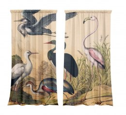 Set of drapes Birds