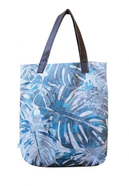 Torba Mr M Monstera Blue / uszy skóra naturalna