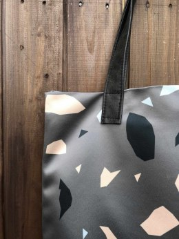 Bag Mr. m Terrazzo graphite/ears natural leather