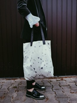 Bag Mr. m Terrazzo grey/ears natural leather