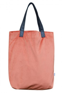 Bag Mr. m velvet coral/ears natural leather