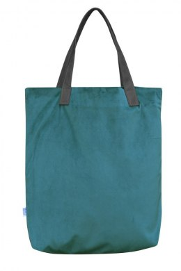 Bag Mr. m velvet turquoise/ears natural leather