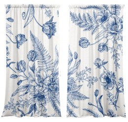 A set of curtains Blue Flower