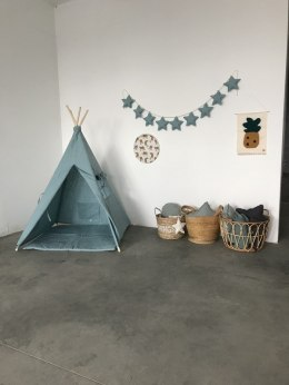 TEEPEE TENT WITH FLAX GREEN