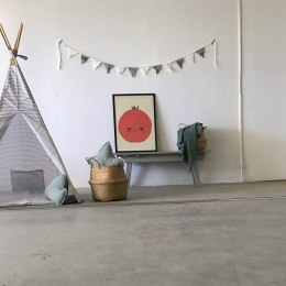 "Teepee tent Grey ""striped"""