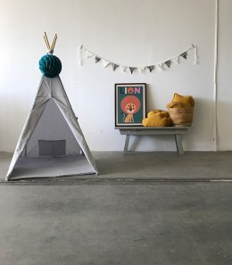 "Teepee Tent light Grey ""mist"""