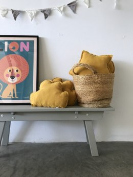 "Mustard Cloud Pillow ""musk"""