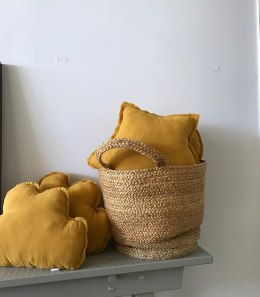 "Mustard Star Pillow ""musk"""