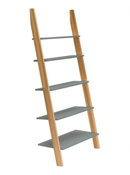 Bookcase Ladder ASHME 85x35x180cm-White
