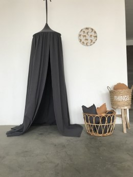 "Teepee Muslin Canopy ""Anthracite grey"""