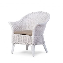 Childhome Baby Wicker Chair Despite White